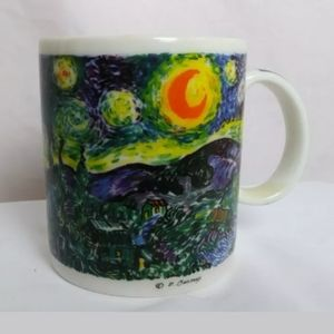 Van Gogh Mug Coffee Cup Starry Night Sky Art
